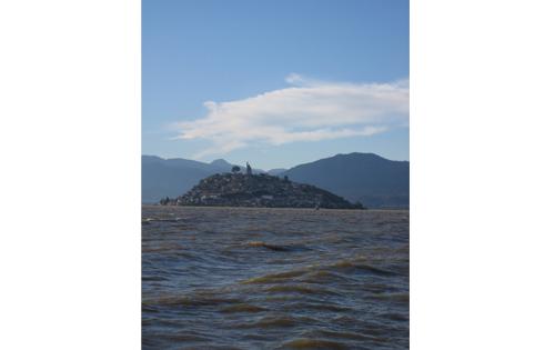 This is the island of Janitzio outside of Patzcuaro.