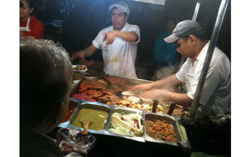These are the Tacos in the center of Patzcuaro!