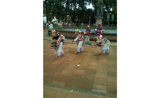 This is a typical dance performed in the center of Patzcuaro.