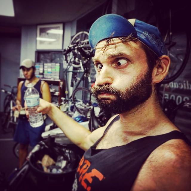 Yeah, so, post-#pedicab-shifts can get a little . . . weird.  #BostonPedicab #Boston #beard #slab #slablife #OnlyOnPedicab #OnlyOnPedicab #150RidesOfSummer #SouthEnd