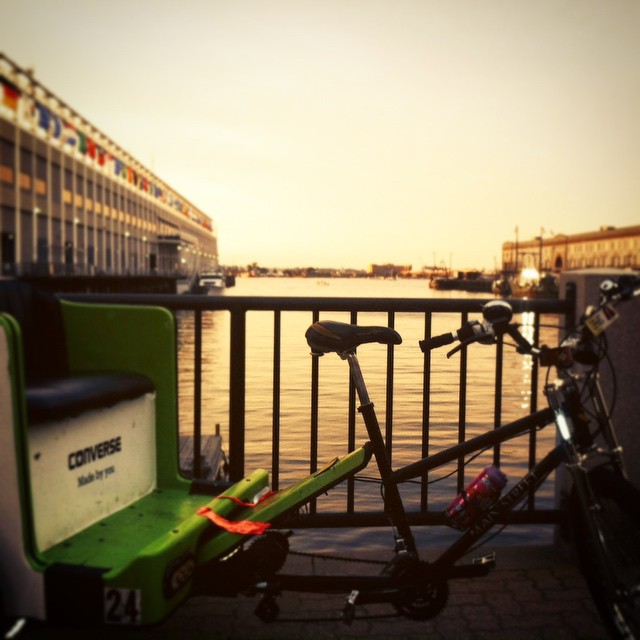 We get to see every #Boston #sunset from the best seat in the city. Every. Damn. Day.  #BostonHarbor #Boston #slablife #slab #Seaport #InnovationDistrict #150RidesOfSummer #BostonPedicab #pedicabnation #pedicab #OnlyOnPedicab #OnlyOnAPedicab