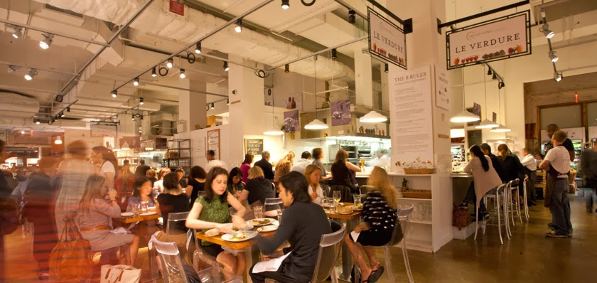 One of Eataly's many in-store dining areas [  Image Source  ]