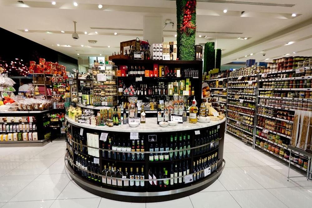 Pusateri's olive oil bar [  Image Source  ]