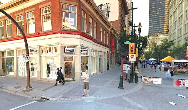 Wolford at Fashion Central, Calgary. Hudson's Bay is visible in the right of the photo. Photo: Google Streetview screenshot