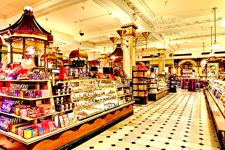 Harrod's Food Hall, London [ Image Source ]