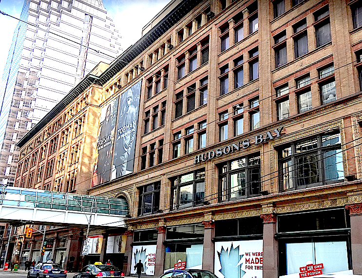 Toronto's Hudson's Bay/Toronto Eaton Centre will be Saks' first Canadian location. Photo:  Darrell Bateman