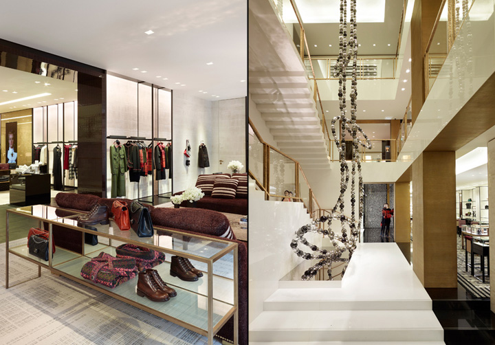 Inspired by Coco Chanel and her famed Parisian apartment, Chanel's flagship stores surround consumers in the ultimate luxe environment. A similar environment also exists within new Chanel concessions [ Image Source ]