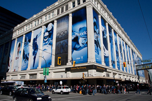 Hudson's Bay Vancouver during the 2010 Winter Olympics ( photo source )