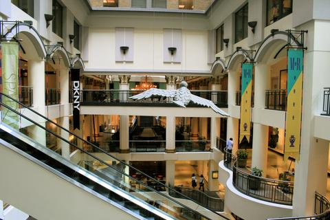 Inside the elegant Les Cours Mont Royal. Harry Rosen's expansion will see the store occupy 33,000 square feet over three floors.  Image Source