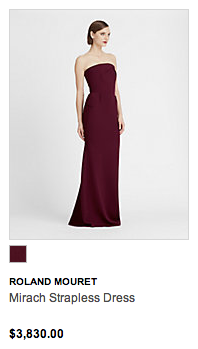 Roland Mouret dress from Hudson's Bay's luxury women's department 'The Room. Click image to visit the website link.