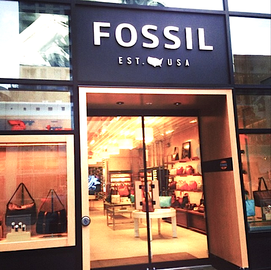 Fossil's 2,650 sq ft Canadian flagship just opened at 50 Bloor St. West in Toronto, in a retail space formerly occupied by Aldo Shoes. Photo: Bloor-Yorkville BIA,  via Instagram .