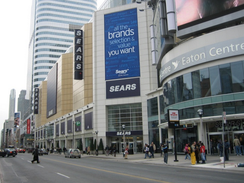 The Toronto Eaton Centre, in Canada's busiest shopping area. We'd expect Uniqlo to locate in or near the mall. Photo: Wikipedia