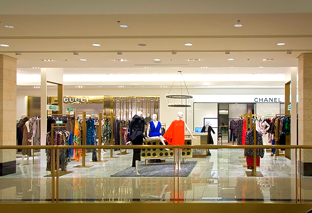Collectors department at Nordstrom, Nashville. Chanel and Gucci anchor the women's designer department with prices into the thousands. Photo: bradles, flickriver.