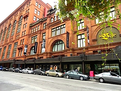 Hudson's Bay, downtown Montreal. Photo courtesy of Cynthia Cheng Mintz of  DelectablyChic!  (  www.delectablychic.com  ) [  Photo Link  ]
