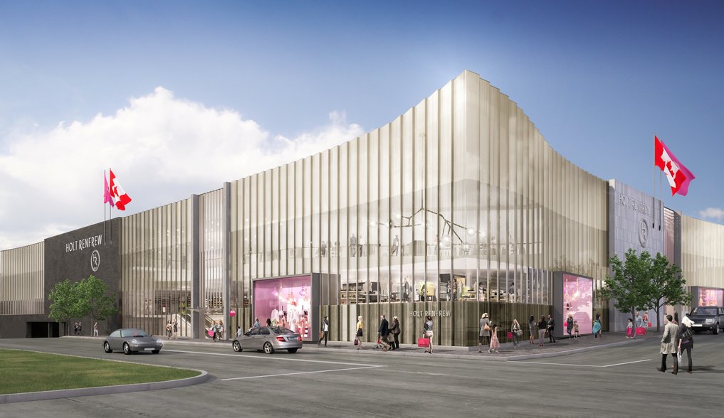 Holt Renfrew's new Square One store, opening in the spring of 2016. Rendering: Janson Goldstein architects.