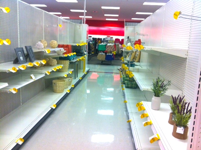 Empty shelves: a common complaint among may Canadian Target shoppers. Photo:www.jodyrobbins.com