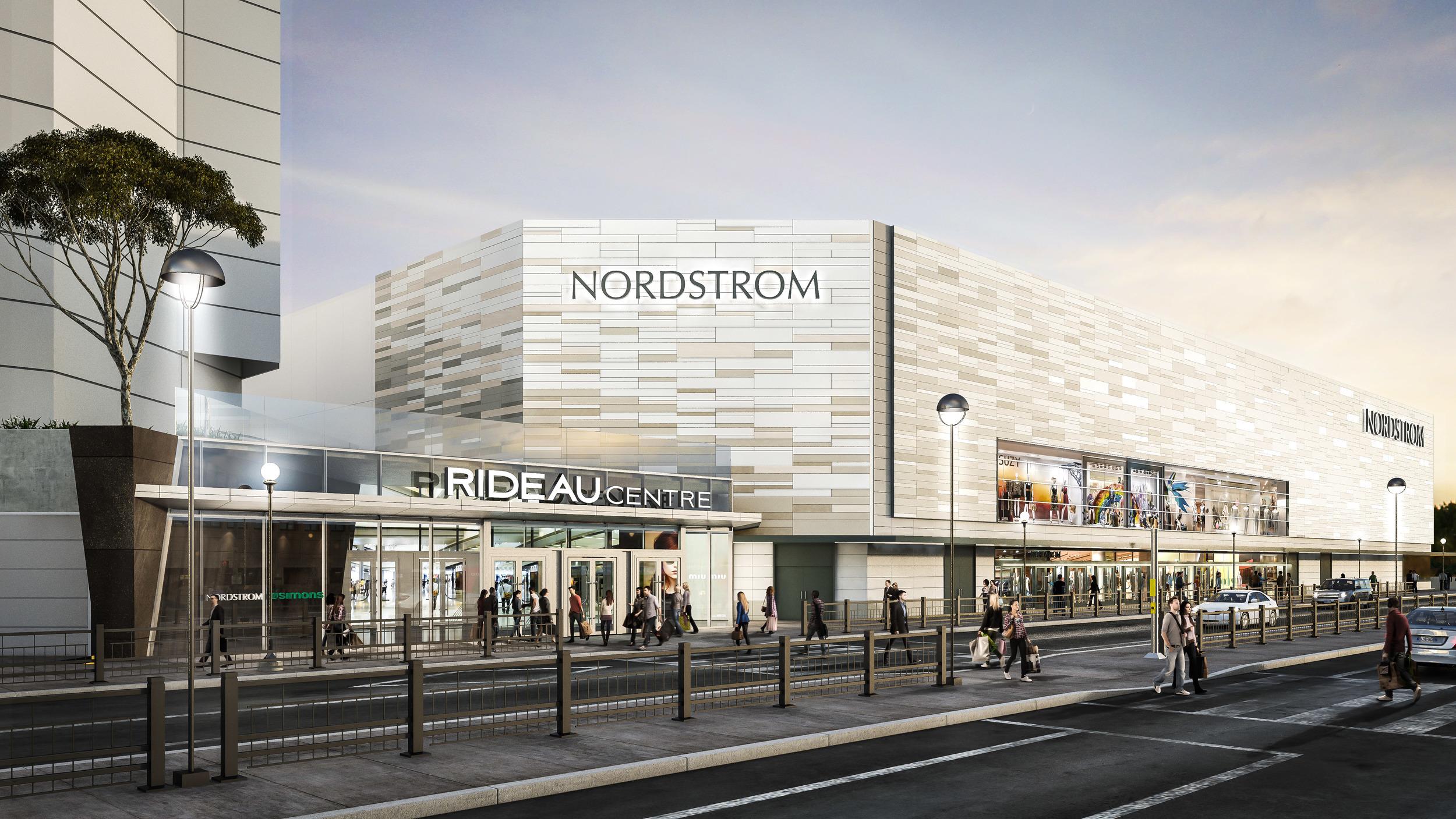 Rendering of Rideau Centre's Nordstrom. Photo: Rideau Centre
