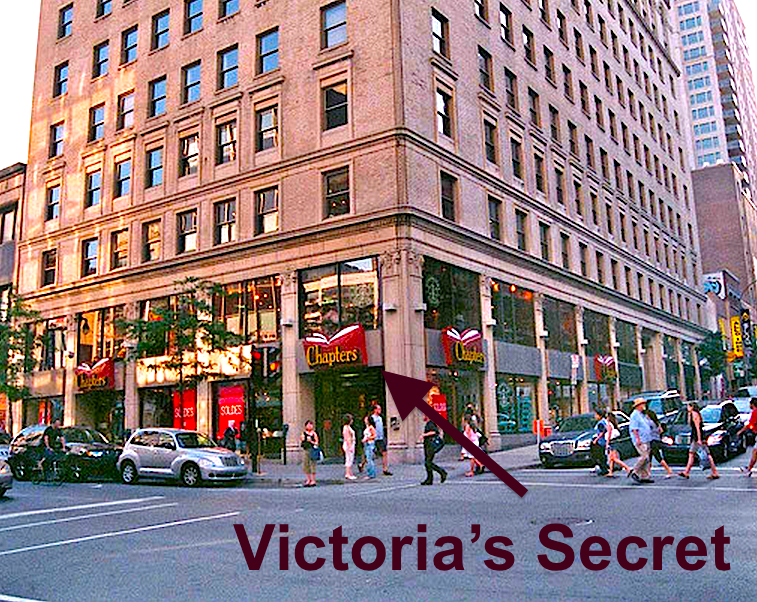 Victoria's Secret will replace the Chapters bookstore at 1171 Saint Catherine Street West in Montreal. Photo: quillandquire, www.flickriver.com