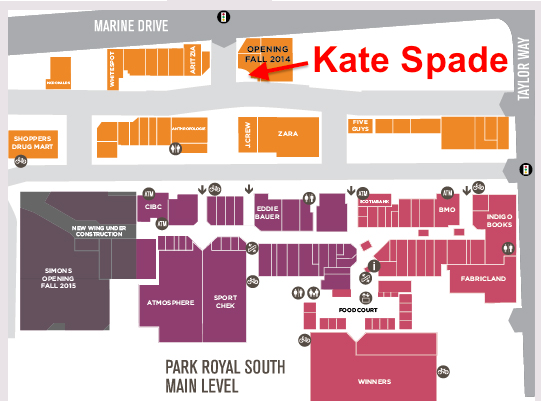 Kate Spade will locate next to the mall's new Michael Kors store.