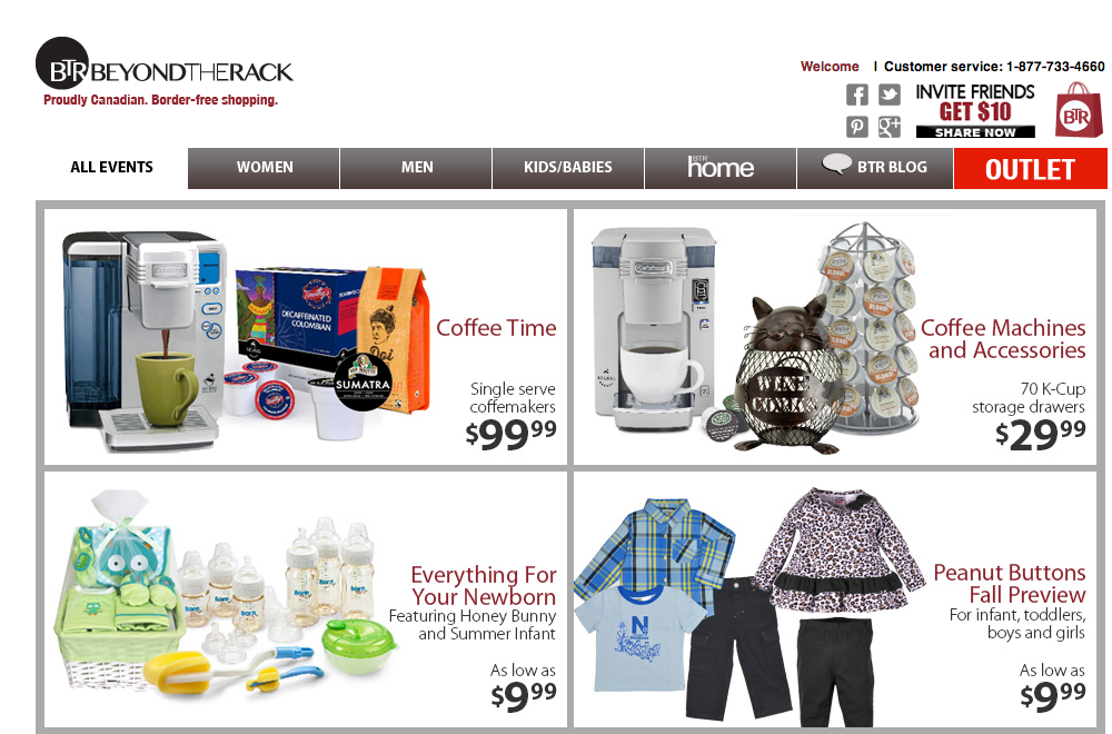 Beyond the Rack: North America's fastest growing online retailer.