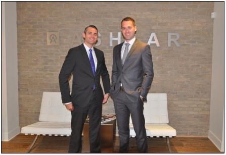 Ashlar Urban Realty's Brandon Gorman (right, with Ashlar colleague and partner on the deal, Graham Smith ).