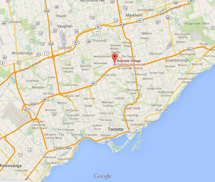 Click this map  to view the exact location of Bayview Village on Google Maps.