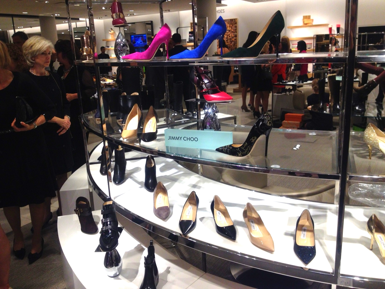 The store features over 30 styles of Jimmy Choo women's footwear.