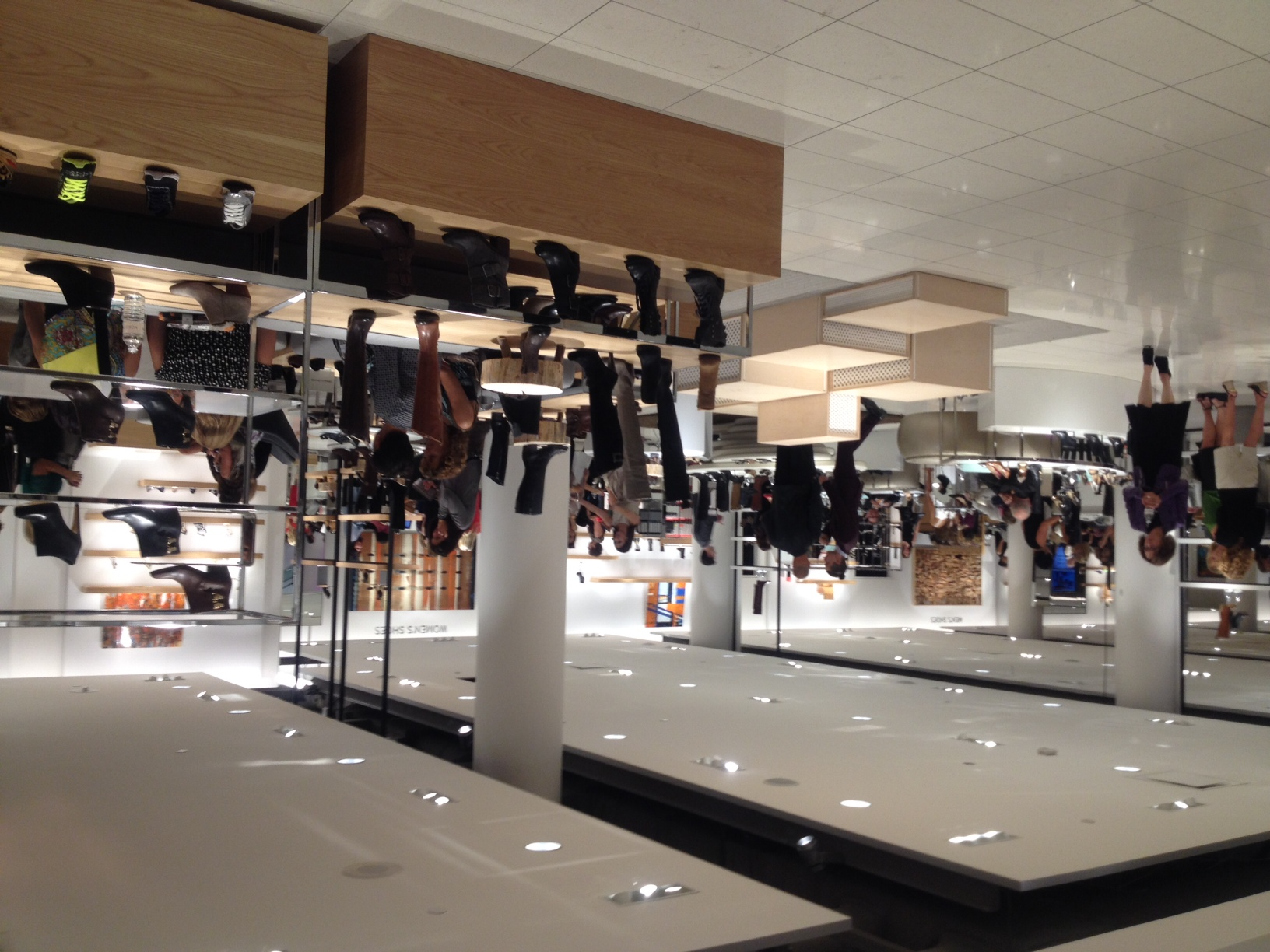 Open sightlines characterize the store.