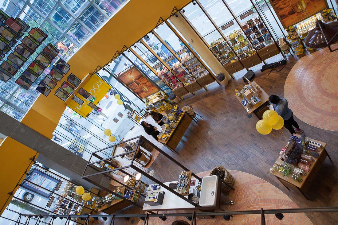 Inside the new Vancouver L'Occitane store. Photo: L'Occitane en Provence.