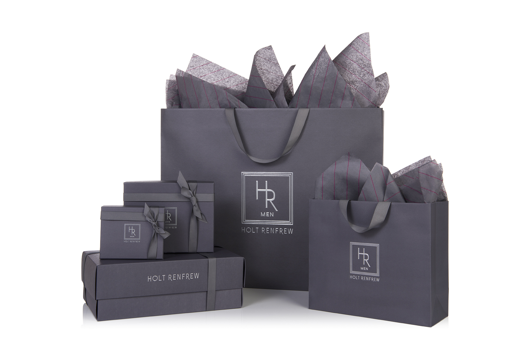 Packaging designed specifically for the new store, distinguishing it from Holt Renfrew's trademark magenta colouring. Photo: Holt Renfrew.
