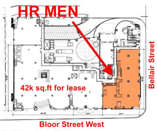 Lease Plan: 100 Bloor St. W.