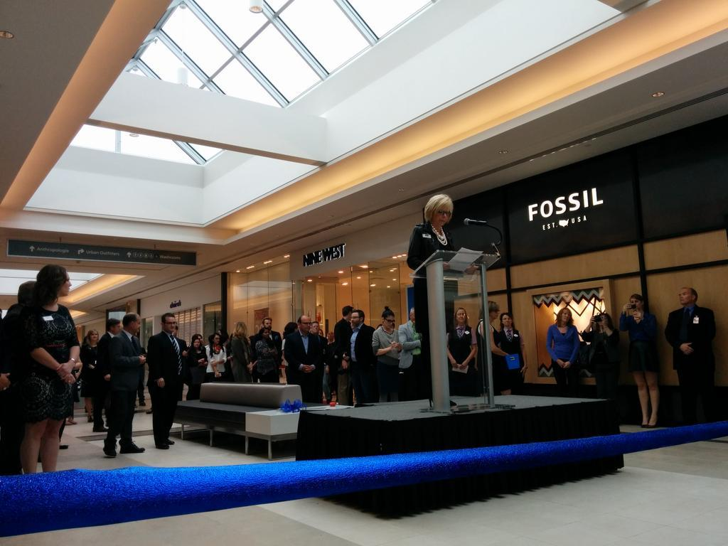 Polo Park GM Deborah Green addressed the crowd on October 1. Photo: Polo Park.