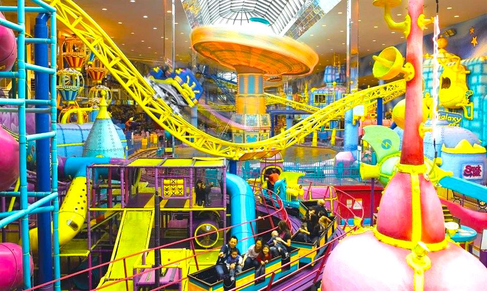 'Galaxyland' features various attractions, including roller coasters. Photo: West Edmonton Mall.