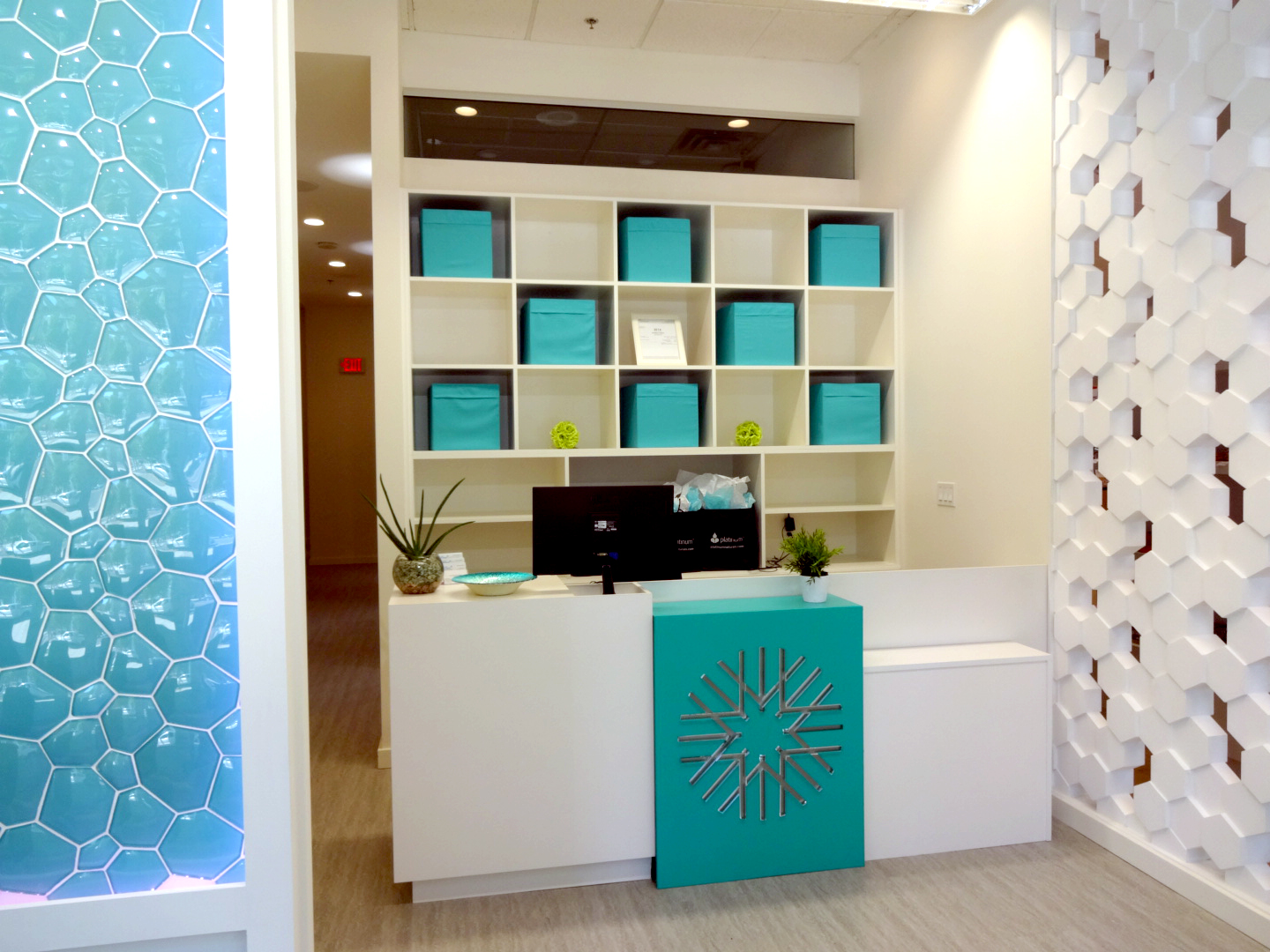 PureHeath Centre's front desk. Photo:  Pure Integrative Pharmacy.