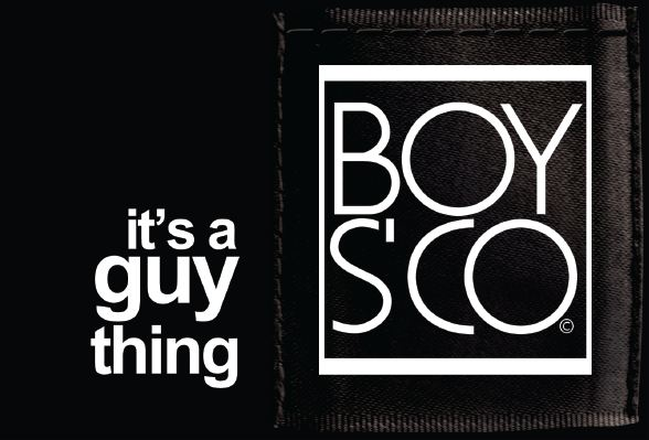 """The retailer's cheeky slogan: """"it's a guy thing""""."""
