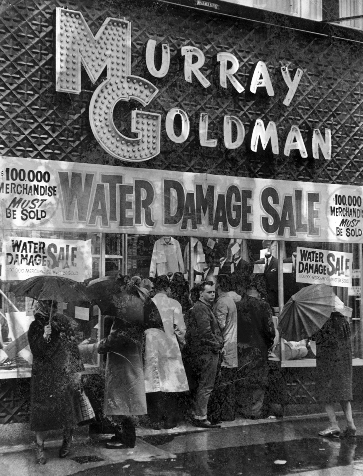 Murray Goldman Menswear was founded in 1946. Photo:  www.thedigitalpanda.com