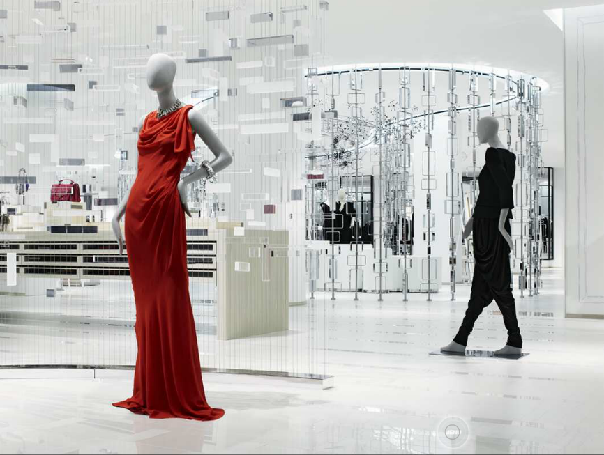 22,000 sq ft luxury women's department 'The Room' opened late 2009 on the 3rd floor of Hudson's Bay in Toronto. Included was a $21,000 Balmain dress, as well as over 40 international luxury brands. A Vancouver location followed two years later. Photo: Yabu Pushelberg.