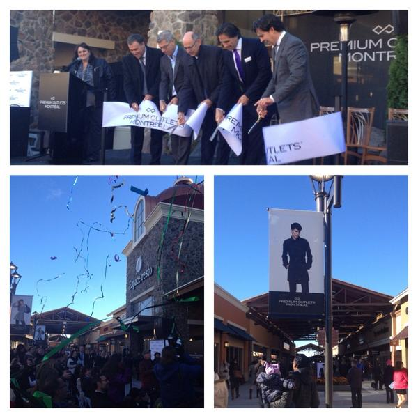 Ribbon cutting. Photo: Premium Outlets Montreal.