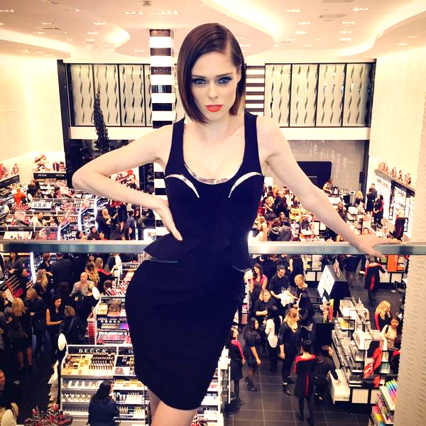 Supermodel Coco Rocha at the opening. Photo: Sephora.