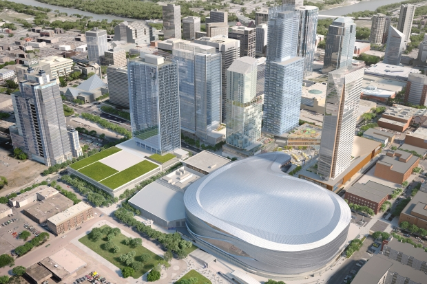 Edmonton's Arena District will feature some retail, though likely not enough to attract Nordstrom. Photo: Edmonton Journal.