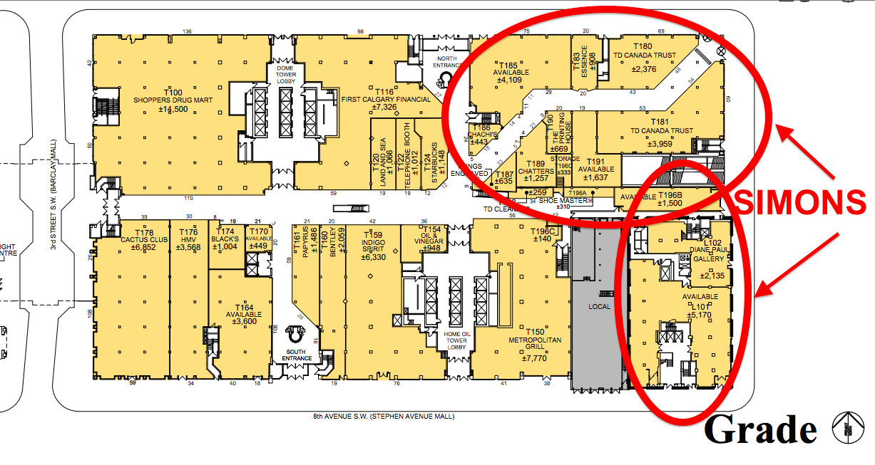 Click image for entire PDF :Ground floor lease plan of The CORE, via 20 VIC Management Inc.