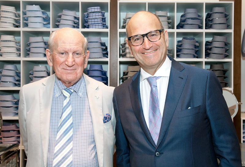 Founder Harry Rosen (left) with son, Larry. Larry Rosen is now CEO of Harry Rosen Inc. Photo:  www.mrketplace.com