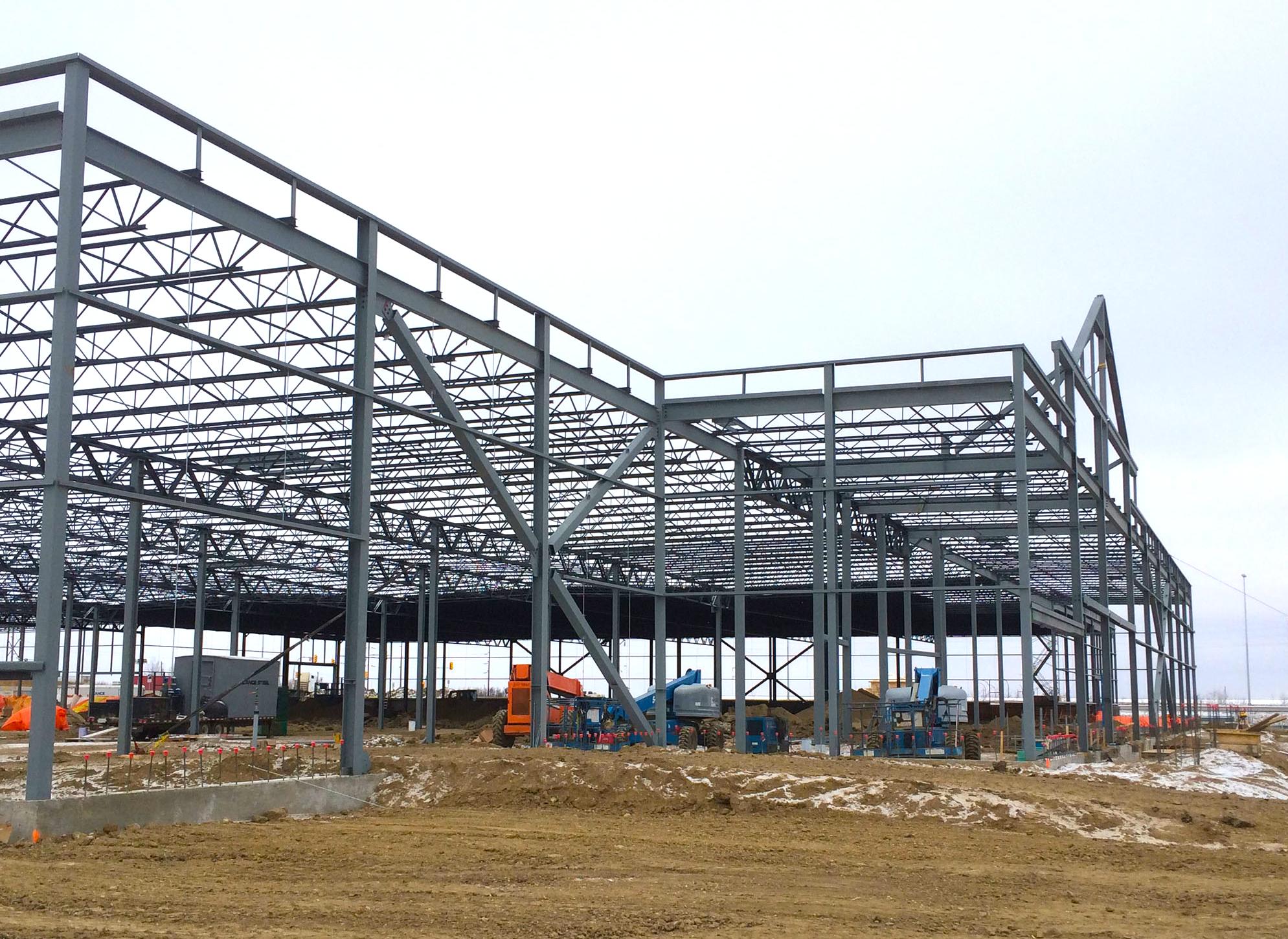 Under construction: Lowe's new Saskatoon location. Photo: Lowe's.