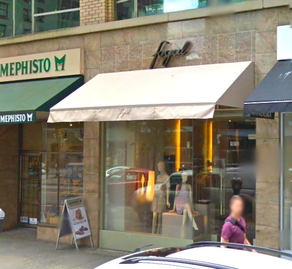 Fogal shuttered its Vancouver location in August. Photo: Google Street View screen capture.