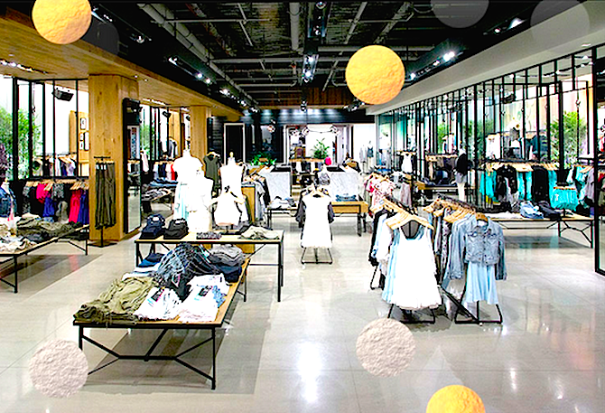 Inside the new West Edmonton Mall store. Photo: Aritzia