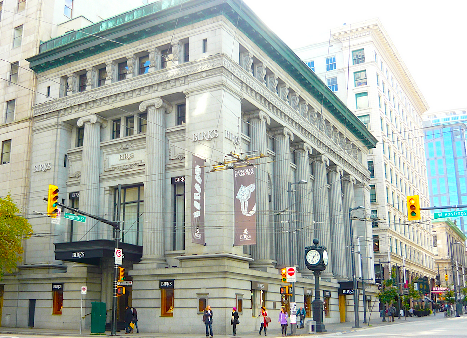 Birks' Vancouver store, measuring over 20,000 sq ft, is the retailers's largest. Photo: Wikipedia.