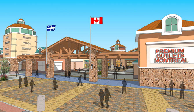 Rendering: Premium Outlets Montreal.