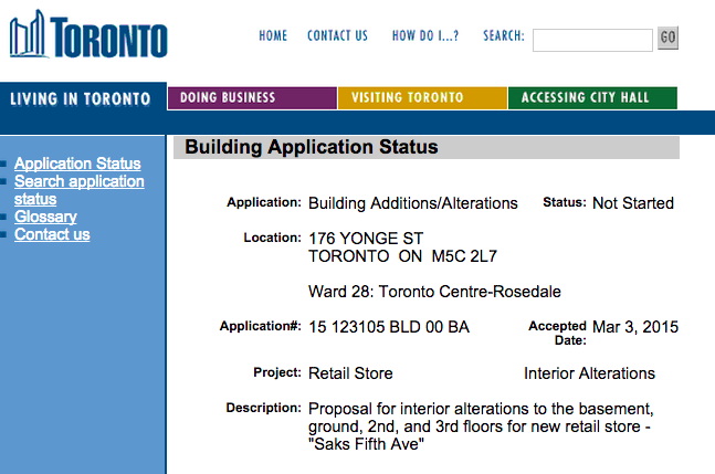 Click image above to go to the City of Toronto Building Application.