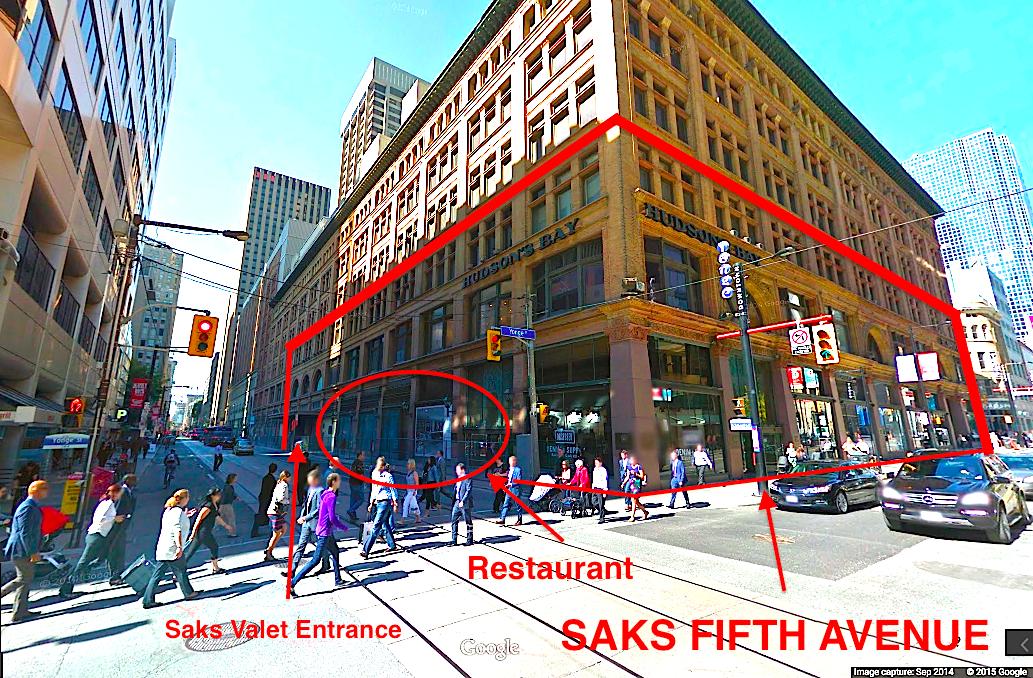 Corner of Yonge Street and Richmond Street, looking northwest. Photo: Google Street View screen capture.