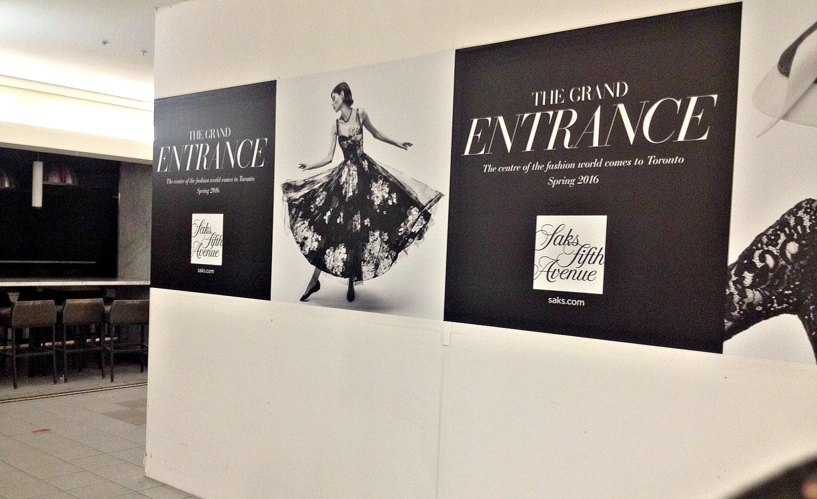 More concourse level construction hoarding features Canadian supermodel Coco Rocha. Photo: Craig Patterson